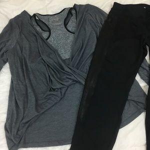 NWOT open twist back activewear top